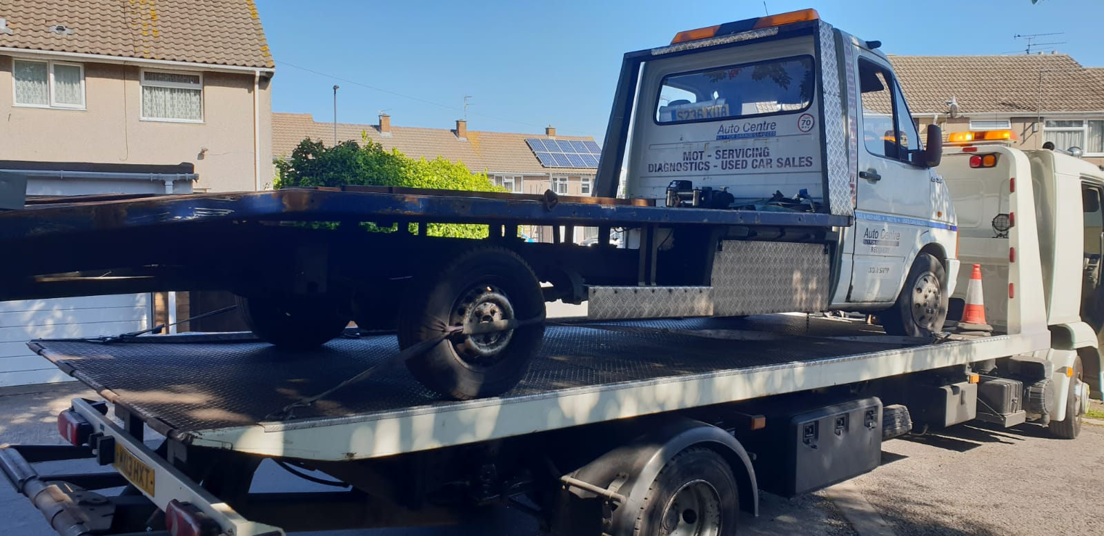 Transporting and rescuing recovery vehicles