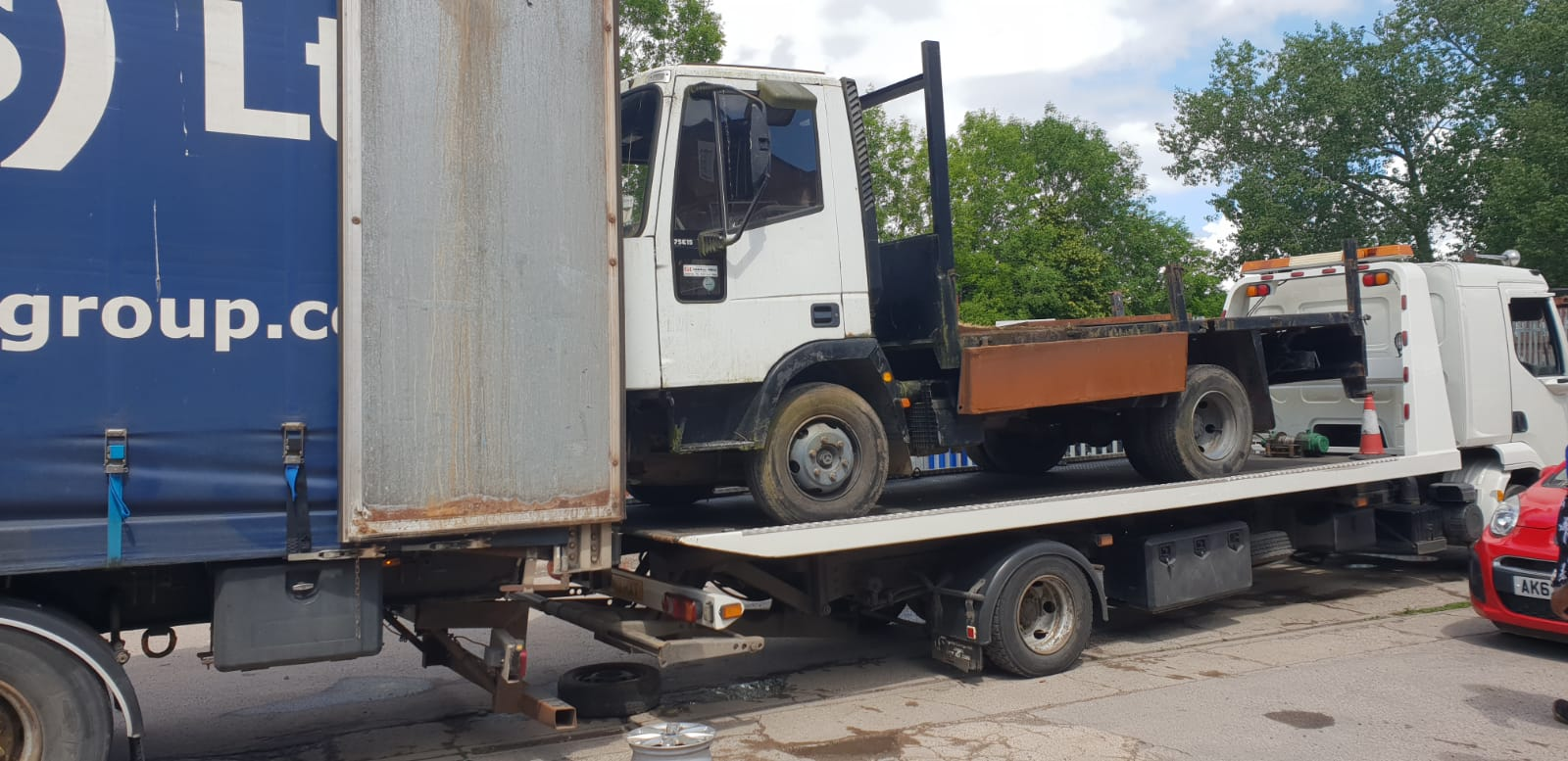 Moving commercial vehicles